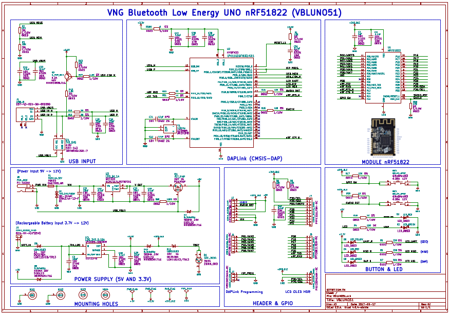 Schematic and PCB | VBLUno51 board