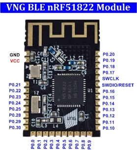 Module VNG BLE nRF51822 | VBLUno51 board